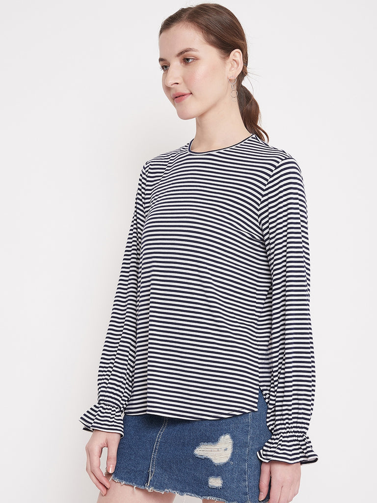 Navy & White Stripe Tee