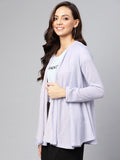 Blue Shimmer Textured waterfall shrug
