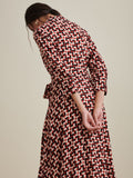 Retro Polka Wrap Midi Dress