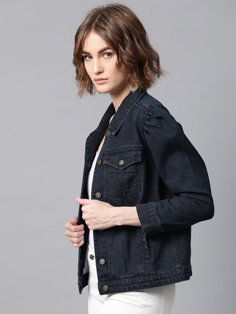 Solid Denim Jacket