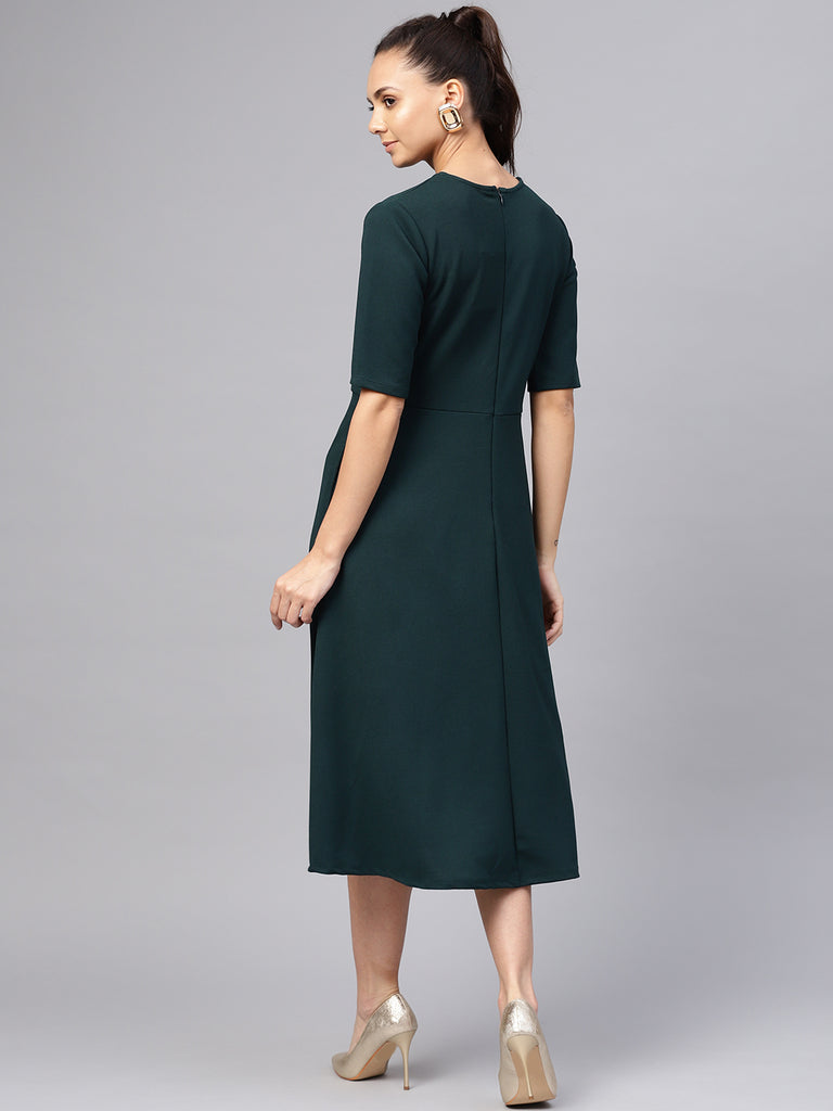 Emerald Fit & Flare Midi Dress