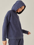 Navy Melange Zip up sweatshirt