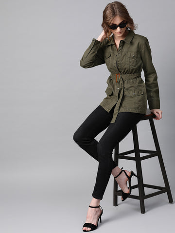 Green Buckled Up Jacket