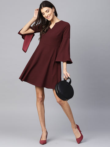 Flared Sleeve Dress