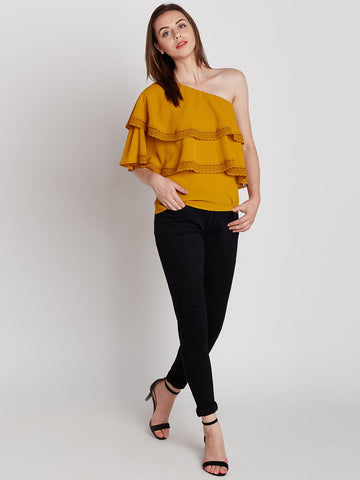 Mustard Multi layer Top