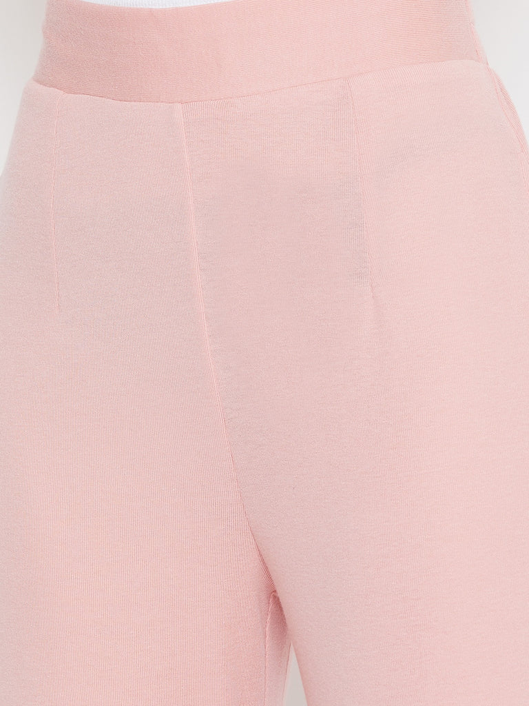 Pink Elasticated High Waist Pants