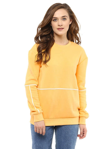 Yellow Sweatshirt with piping