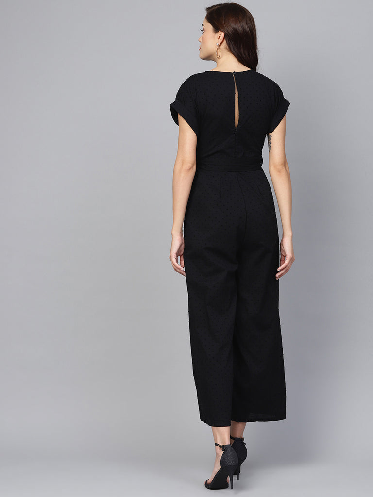 Black Dobby Jumpsuit