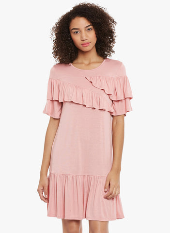 Blush viscose dress