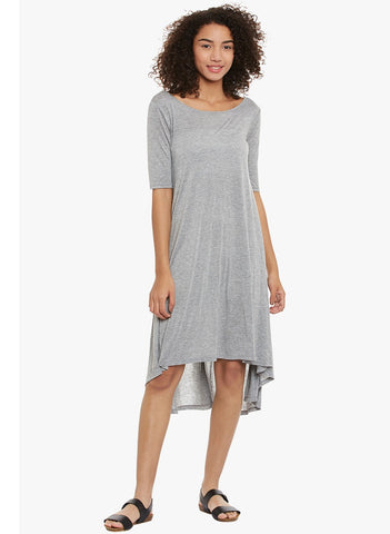 Grey Jersey High Low Dress
