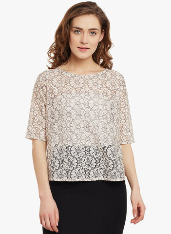 Blush Floral Lace Top