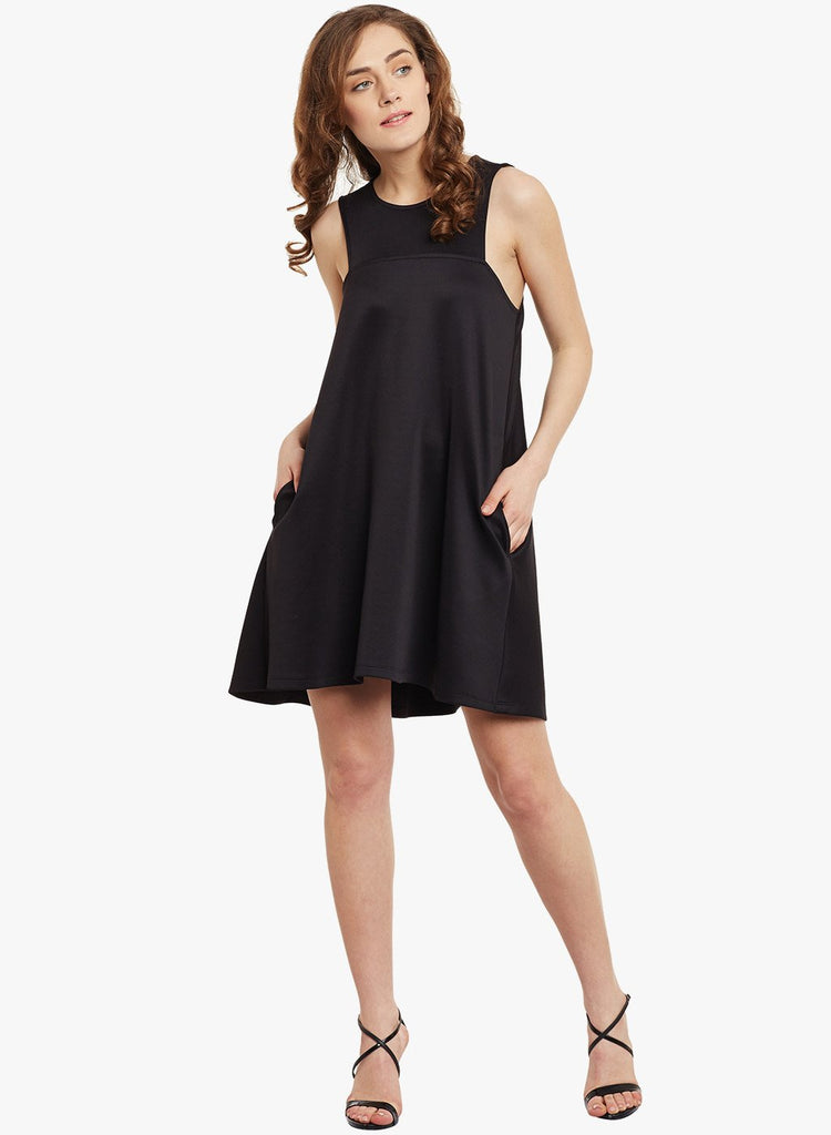 Black Trapeze Mini Dress
