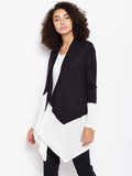 Color block waterfall shrug