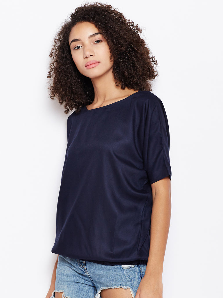 Navy Oversized top