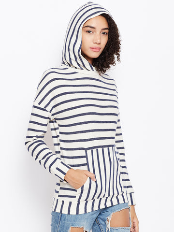 Navy White Stripe Play Sweatshirt