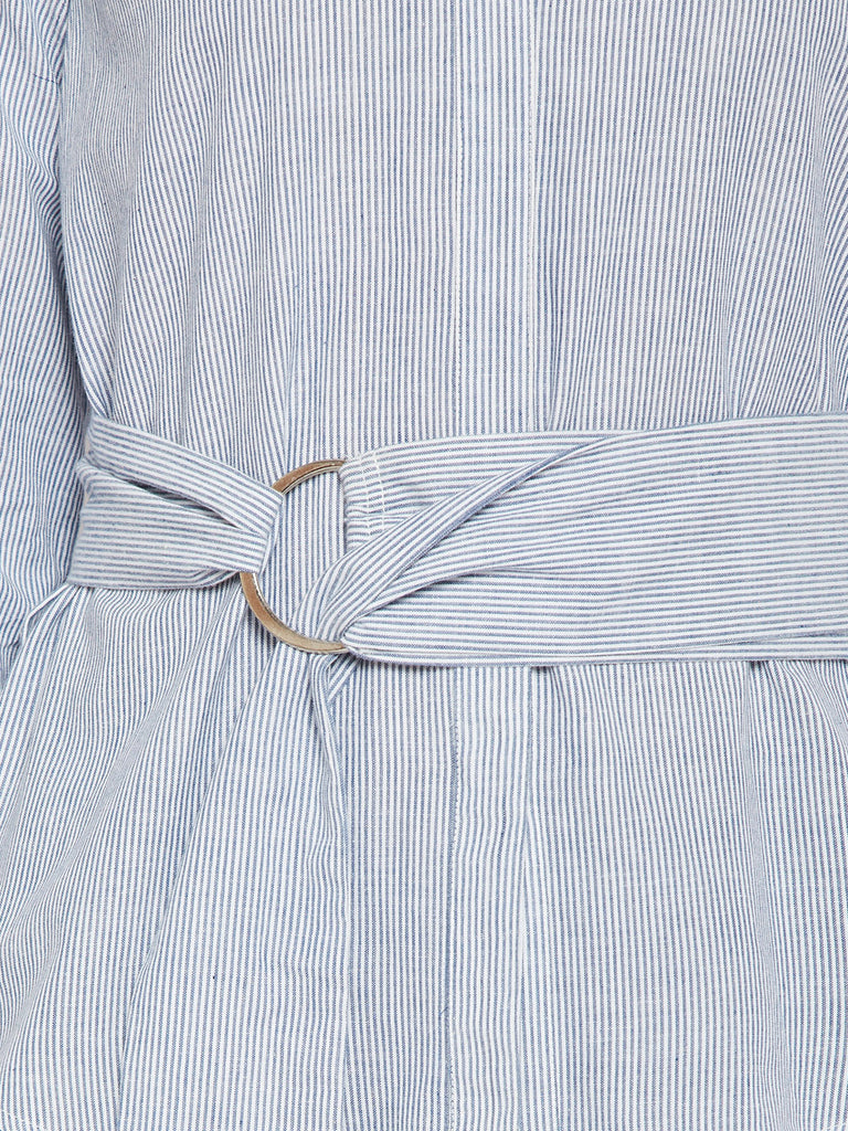 Blue Stripe Embroidered Tunic