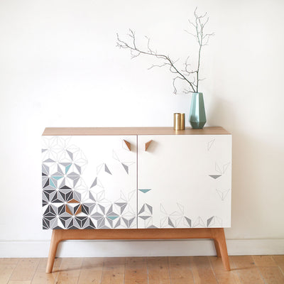 Geometric Formica Marquetry sideboard