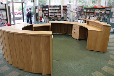 Circular Oak Reception Desk