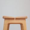 Handmade modern large oak stool