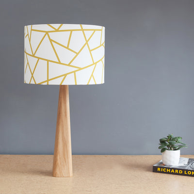 Handmade oak or walnut table lamp base only
