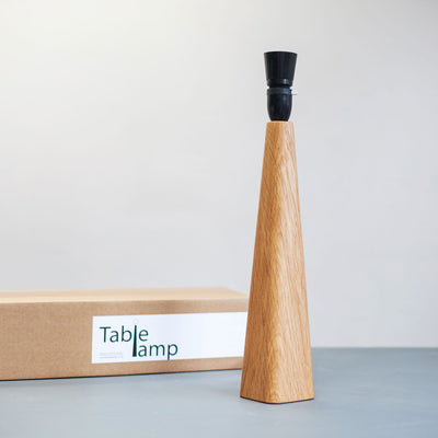 Oak Table Lamp Base