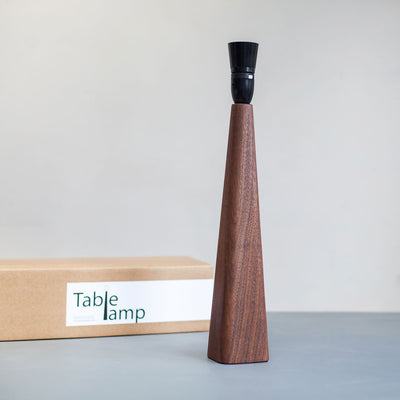 Walnut Table Lamp Base
