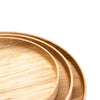 Wooden plates, bowls and trays