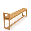 Oak Hallway bench with handle