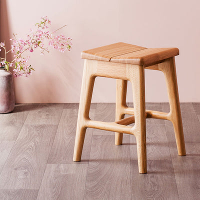 Handmade modern small oak stool