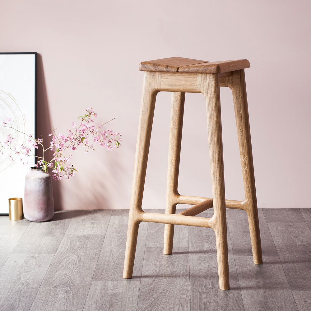 Phenomenal Handmade Modern Large Oak Stool Pabps2019 Chair Design Images Pabps2019Com
