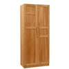 Contemporary Solid oak wardrobe with panelled doors