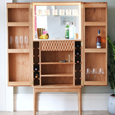 Drinks Cabinet with sculpted doors