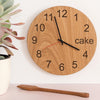 Cake O'clock - Wooden clock for cake lovers