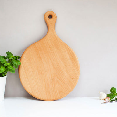 Unique wooden handmade pizza serving board