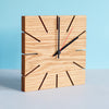 Slot Clock - solid oak handmade clock