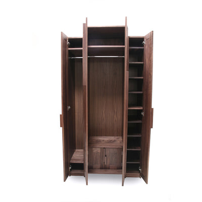 handmade walnut wardrobe