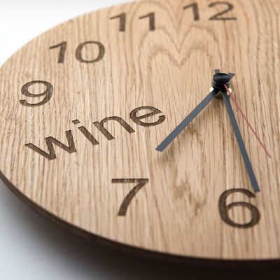 Wine Oclock Wooden Clock For Wine Lovers