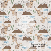NON EXCLUSIVE | Seamless pattern design | Digital Download | Minnesota Moose | 8x8 inches
