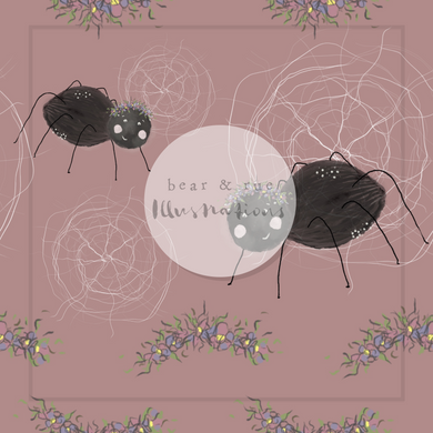 NON EXCLUSIVE | Seamless pattern design | Digital Download | Flower Crown Spider Rose | 8x8 inches