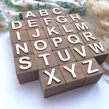 Walnut Letter Blocks