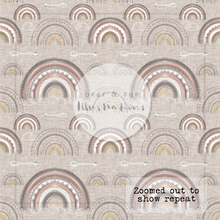 NON EXCLUSIVE | Seamless pattern design | Digital Download | Tribal Rainbows Hessian | 8x8 inches