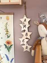Written in the Stars | Hanging Nursery Decor Wooden Stars | Positive Affirmations