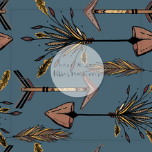NON EXCLUSIVE | Seamless pattern design | Digital Download | Tribal Arrows Dusk Blue | 8x8 inches