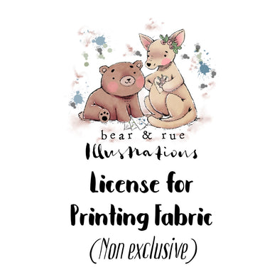 LICENSE for printing Fabric | NON EXCLUSIVE