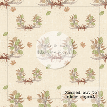 NON EXCLUSIVE | Seamless pattern design | Digital Download | Autumn Crown Ecru | 8x8 inches