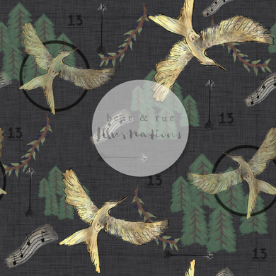 NON EXCLUSIVE | Seamless pattern design | Digital Download | District 13 Dark | 8x8 inches