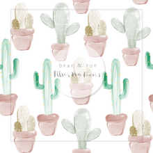 NON EXCLUSIVE | Seamless pattern design | Digital Download | Prickle Pots White | 8x8 inches