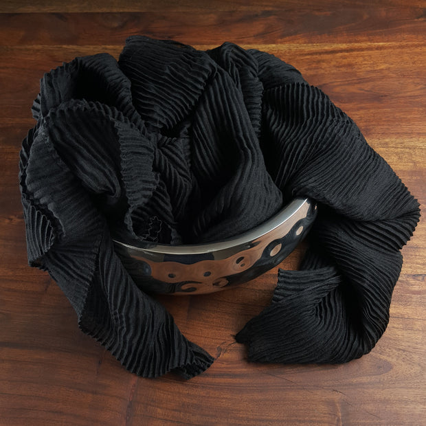 Crinkled Hijab - Black