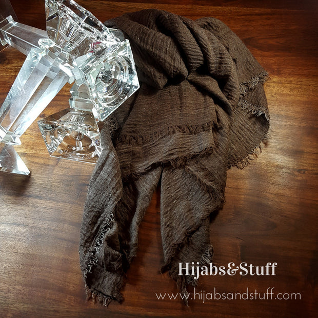 Rippled Hijab - Dusty Chocolate #11