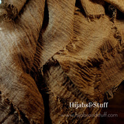 Rippled Hijab - Coffee #12